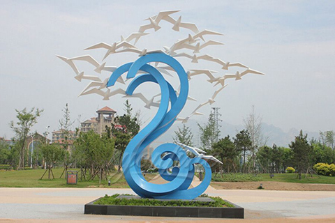 High quality stainless steel bird sculpture for sales